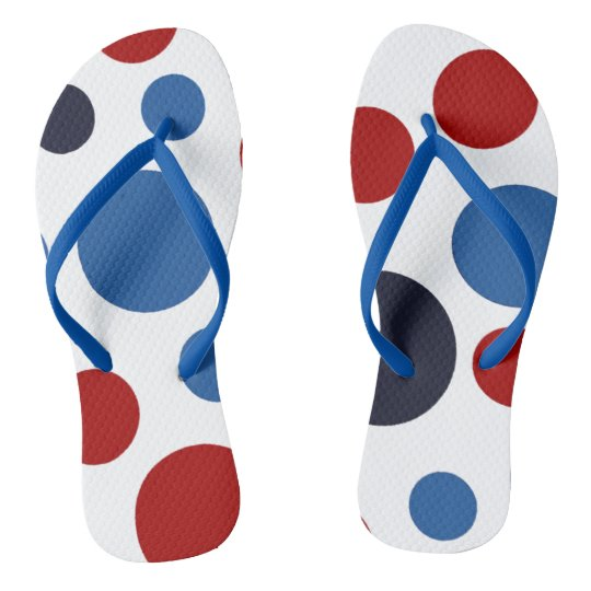 Polka-Dot USA  Patriotic Flip Flops