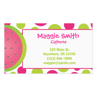 Polka Dot Watermelon Business Calling Card Pack Of Standard Business Cards