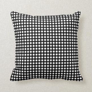 Polka Dot White & Black Throw Pillow