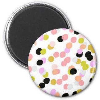 Polka Dots 2 Inch Round Magnet
