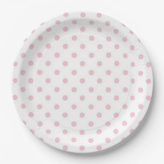 Polka Dots 9 Inch Paper Plate