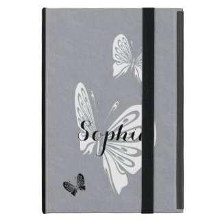 Polka Dots and Butterflies Monochrome Case For iPad Mini