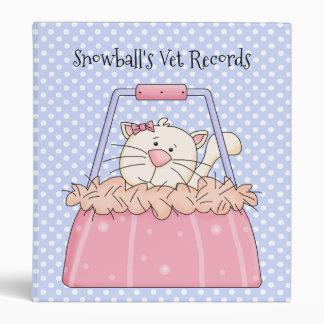 Polka Dots and Cat Vet Records Binder