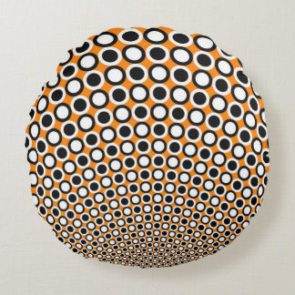 Polka Dots and Checkerboards Round Pillow