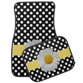 Polka Dots and Daisy Car Mat Set
