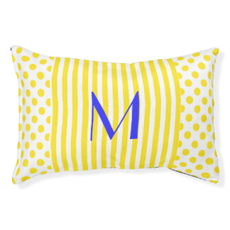 Polka Dots and Stripes Monogrammed Pet Bed