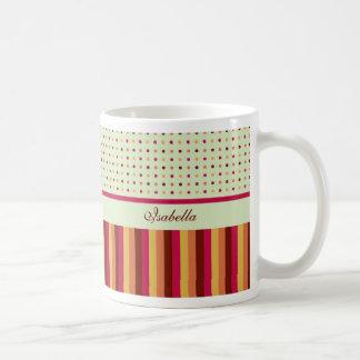 Polka Dots and Stripes Pattern Mug