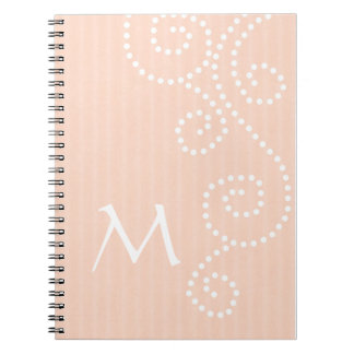 Polka Dots Art Monogrammed Notebook
