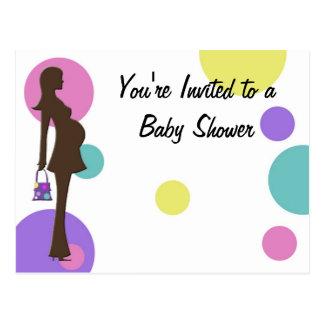 Polka Dots Baby Shower Invitation Postcard