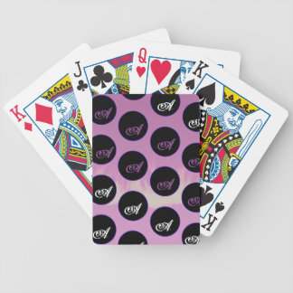 polka dots bicycle playing cards