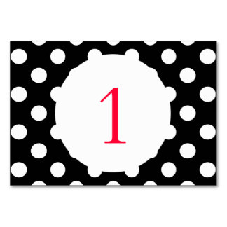 Polka Dots Black Card