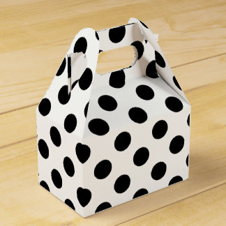 Polka Dots - Black Favor Box