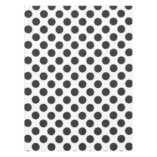 Polka Dots Black White Pattern Tablecloth