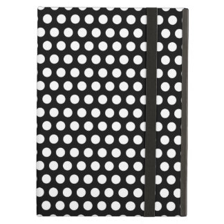 Polka dots black white retro spots pattern, gift cover for iPad air