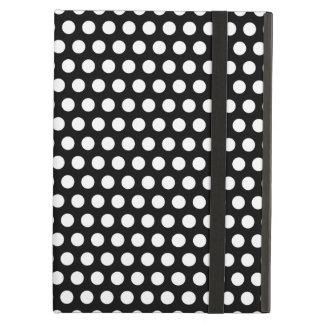 Polka dots black white retro spots pattern, gift iPad cases
