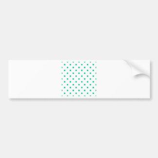 Polka Dots - Caribbean Green on White Bumper Sticker