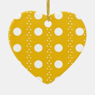 polka dots ceramic ornament