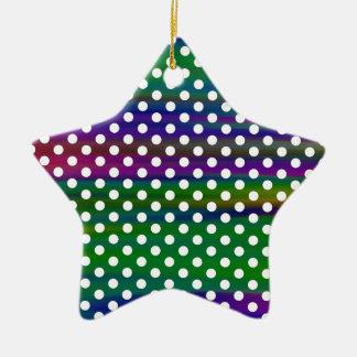 polka-dots ceramic ornament