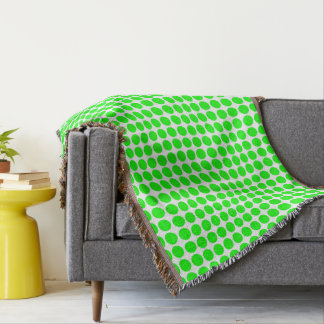 Polka Dots Circle Polkadot Pattern Polkadot Green Throw Blanket
