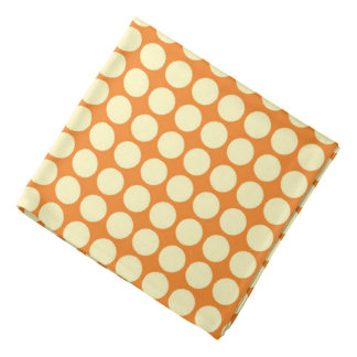 Polka Dots Circle Print Orange Yellow Bandana