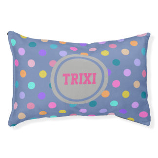 Polka dots confetti colors small indoor dog bed