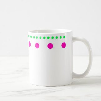 polka dots dots scored coffee mug