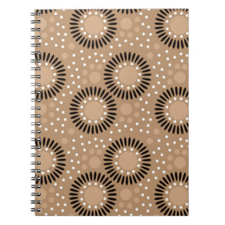 Polka Dots Floral Notebooks Brown