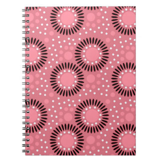 Polka Dots Floral Notebooks Pink