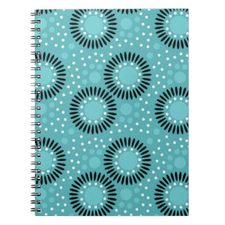 Polka Dots Floral Notebooks Teal