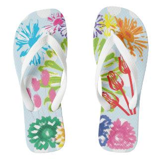 Polka Dots Flower Garden Flip Flop Flip Flops