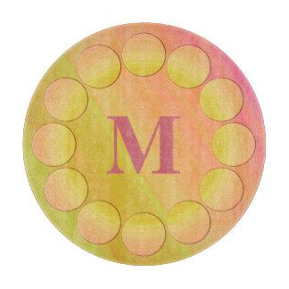 Polka Dots Framed Monogram Cutting Boards