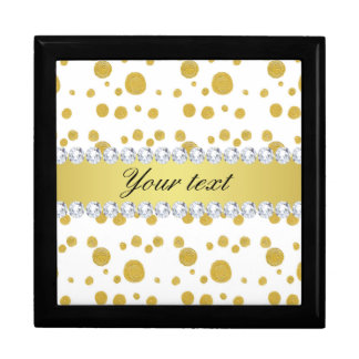 Polka Dots Gold Oil Paint and Diamonds Gift Box