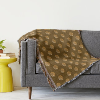 polka dots golgen pattern throw blanket