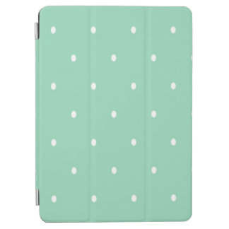 Polka Dots, Green, White iPad Air Cover