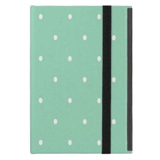 Polka Dots, Green, White iPad Mini Case