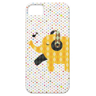 Polka Dots Happy Dancing Elephant iPhone 5 Case