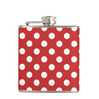 Polka dots hip flask