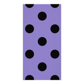 Polka Dots Huge - Black on Ube Picture Card