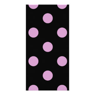 Polka Dots Huge - Light Medium Orchid on Black Picture Card