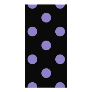 Polka Dots Huge - Ube on Black Picture Card
