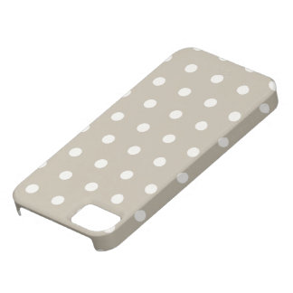 Polka Dots in beige grey iPhone5 cases