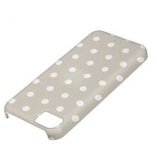 Polka Dots in beige grey iPhone5 cases iPhone 5C Case