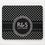 Polka Dots in Black and White with Mod Circle