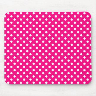 Polka Dots in Bright Pink Mousepad