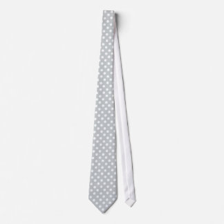 Polka dots in glacier gray tie