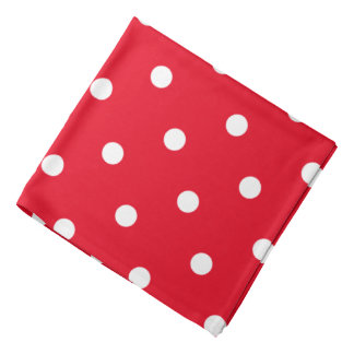 Polka Dots in Red and White Bandana