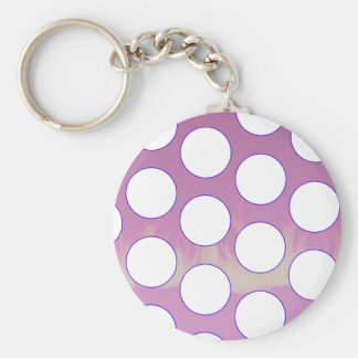 polka dots keychain