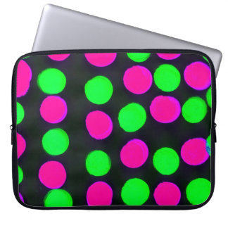 Polka dots laptop sleeve