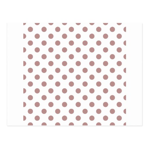 Polka Dots Large - Rosy Brown on White Post Cards