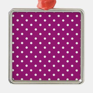 polka-dots metal ornament